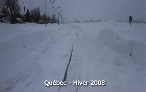 Record de neige et tempte 2008  Qubec
