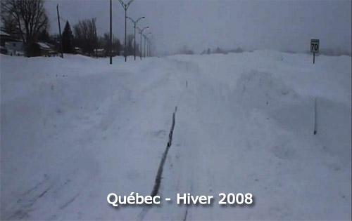 Record de neige et tempête 2008 à Québec
